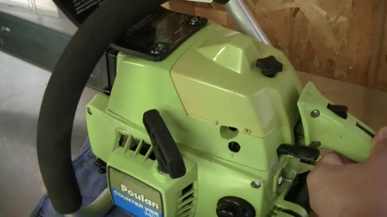 Vintage Poulan 3400 Countervibe Chainsaw Youtube