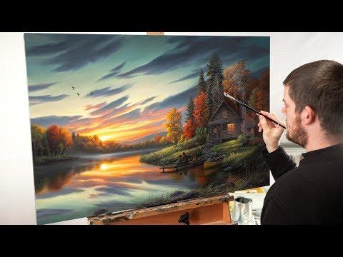 "Landscape Painting Time-lapse | ""Lakeside Memories"""