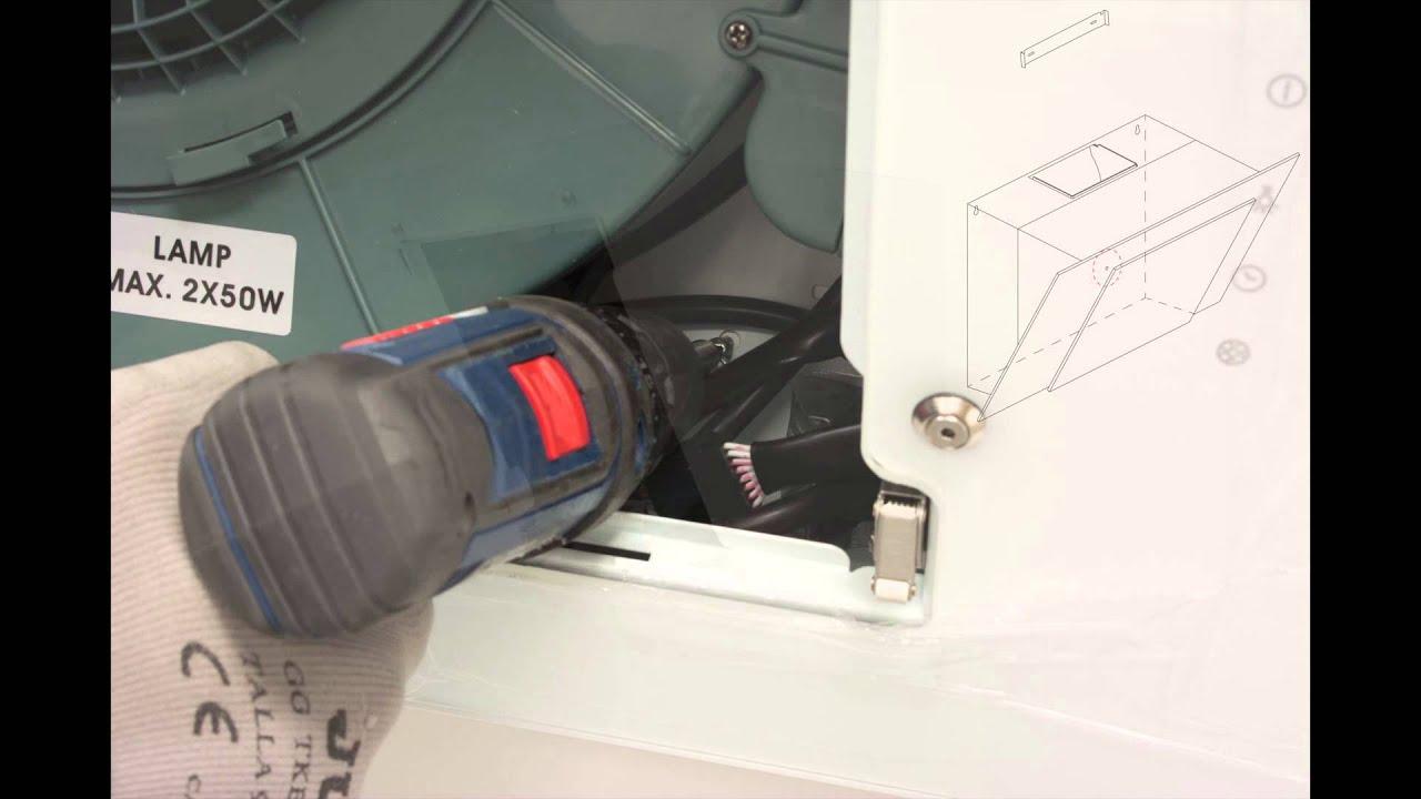 Instalaci n de una campana de pared youtube - Como instalar una campana extractora ...