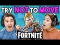 FORTNITE | Try Not To Move Challenge (React: Gaming)