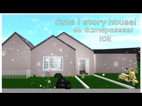 •How to build a cute 1 story house in bloxburg! (10k)•