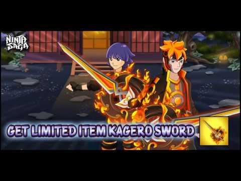Ninja Saga Live Pvp:  Kagero Set & Weapon Preview/Test