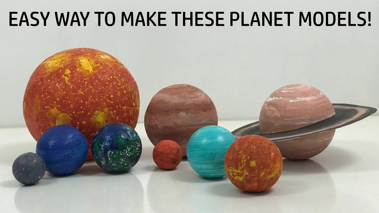 HOW TO MAKE PLANETS OF THE SOLAR SYSTEM FOR SCHOOL PROJECTS & AEROSPACE EXHIBITIONS - EASY WAY!!