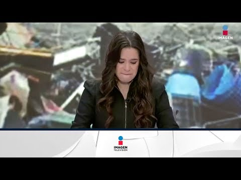 Presentadora llora tras conocer muerte de colega durante el terremoto
