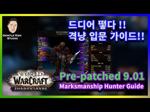 [Eng/Kor]9.01 어둠땅 대비 소둠땅 시점 사격냥꾼 가이드 / Shadowlands 9.01 pre patched Marksmanship Hunter Guide