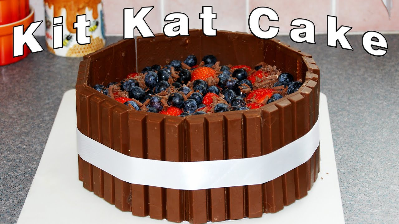 Download Kit Kat Candy Bars Cake Decoration Video | HappyFoods