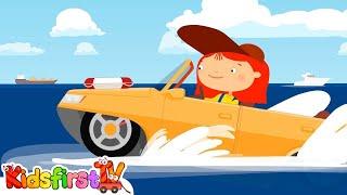 Doctor McWheelie & the amphibious car. Cartoons for kids.