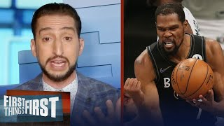 'This was the greatest game of KD's career' —Nick on Nets' Game 5 win | NBA | FIRST THINGS FIRST