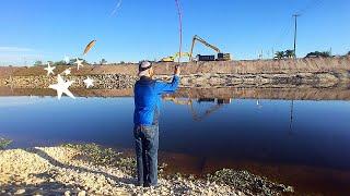 Bass Fishing 2018 - Slinging a New Power Jerkbait at the Spillway (ULTRABASS Edition)