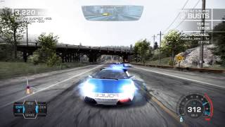 Need for Speed  Hot Pursuit: Charged Attack - Police chase, Lamborghini Murciélago LP 640