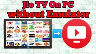 Jio Tv On Pc || Without Emulator || On Crome