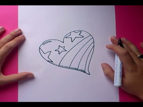 Como dibujar un corazon paso a paso 3  How to draw a heart 3