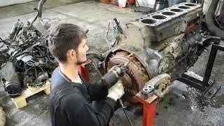 ДВИГАТЕЛЬ MAN TGA ПРОБЕГ 1,6 МЛН - D2876 УСКОРЕННАЯ РАЗБОРКА / HOW TO DISASSEMBLE A TRUCK ENGINE