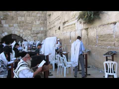 Prayer at the Western Wall (Wailing Wall), the Jewish Quarter of Jerusalem