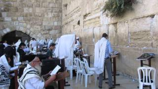Prayer at the Western Wall (Wailing Wall), the Jewish Quarter of Jerusalem