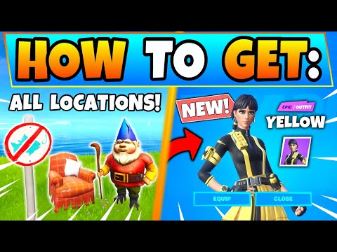 Fortnite NO FISHING SIGNS & CAMEO VS CHIC CHALLENGES GUIDE + Lonely Recliner In Battle Royale!