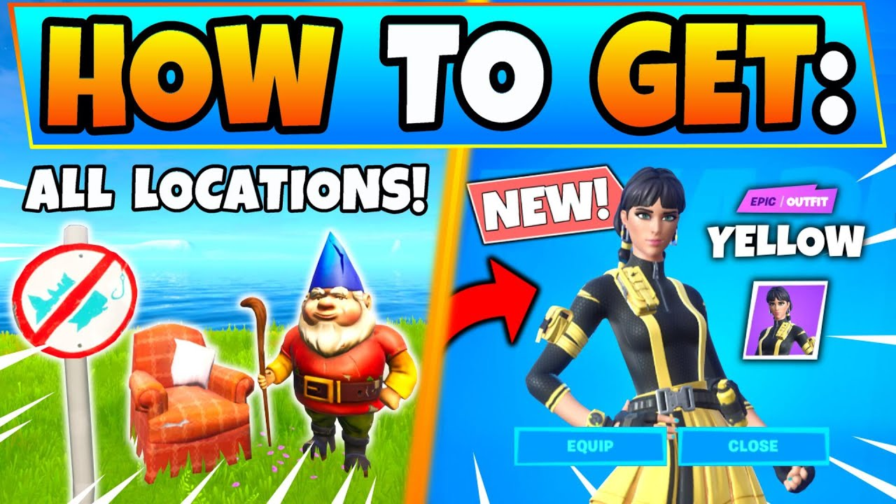 Fortnite NO FISHING SIGNS & CAMEO VS CHIC CHALLENGES GUIDE ...