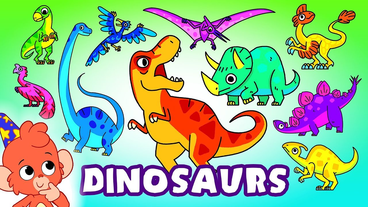 Dinosaurs for kids | Learn Dinosaur Names for Children | Trex Stegosaurus | Club Baboo