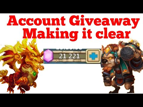 Account Giveaway, Making It Clear | Castle Clash