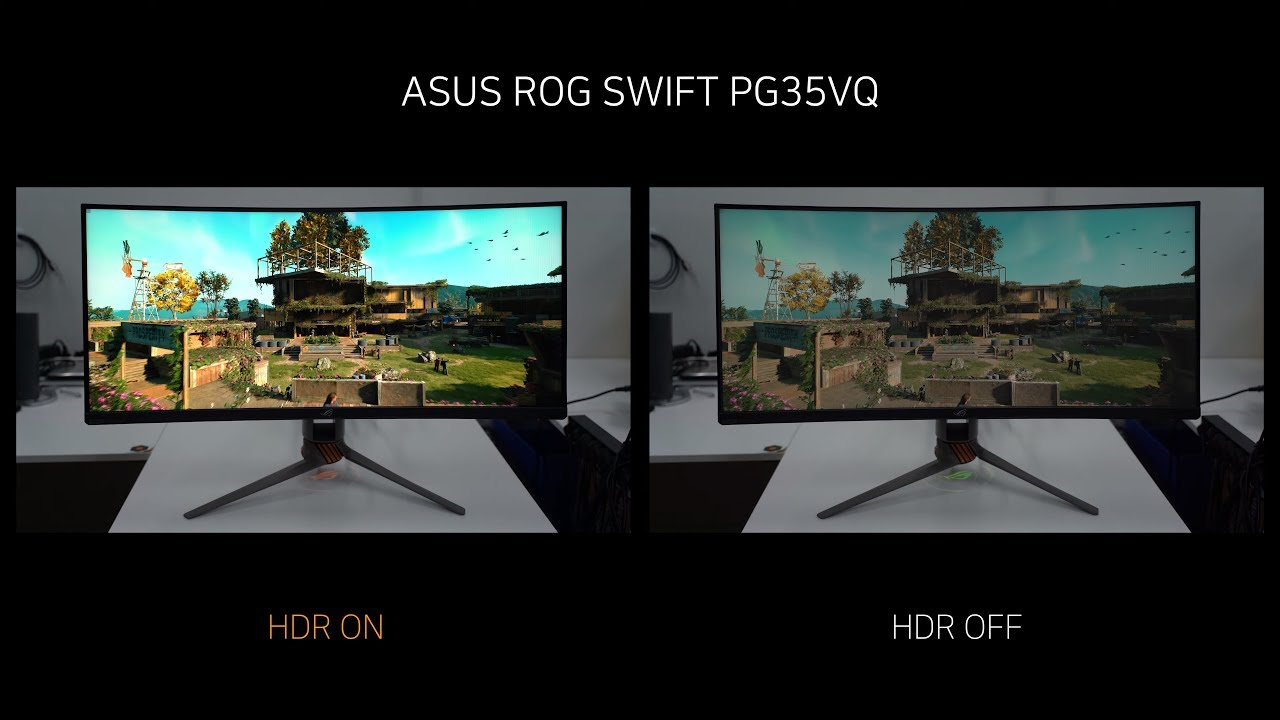 HDR Game - ASUS ROG SWIFT PG35VQ