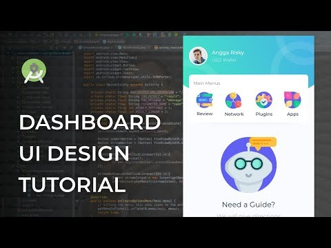 Android Studio Tutorial — Modern Dashboard UI Animation