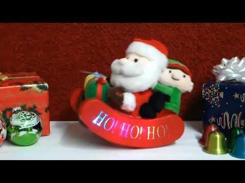Animated Santa's Sleigh Ride Plush