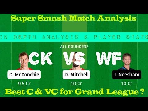 Download CK vs WF Dream11 Team Prediction   CK vs WF Today Dream11 Team   Super smash Match Prediction