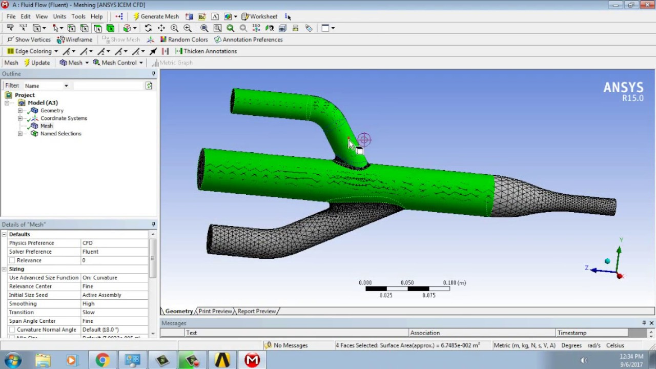 Ansys Tutorial Fluid Flow Analysis Cfd Youtube