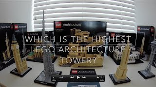 Which is the highest Lego Architecture tower? Empire State Building, Burj Khalifa, Big Ben