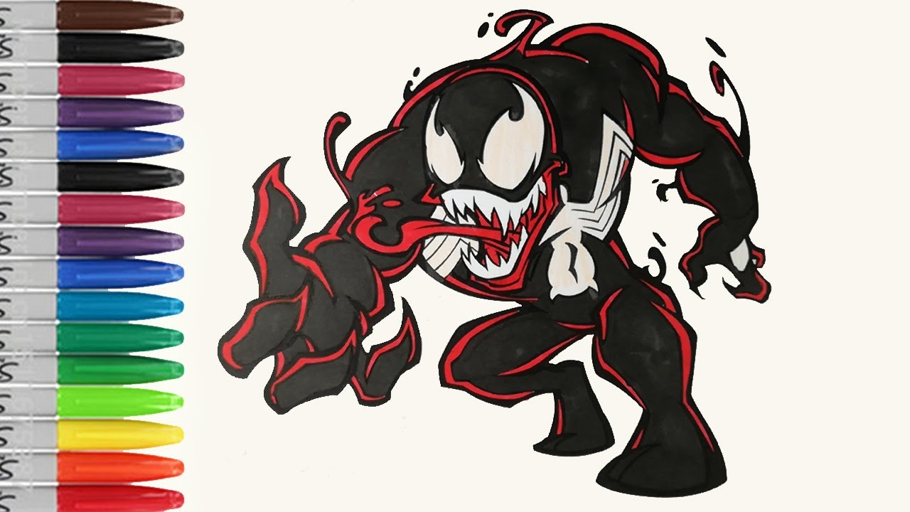 The Little VENOM With Red Light Coloring Pages SAILANY Coloring