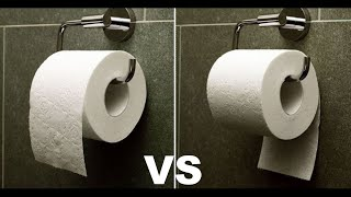 Toilet paper orientation (Over vs Under)