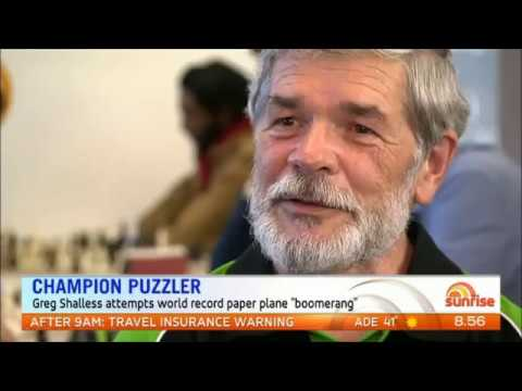 Greg Shalless on Sunrise TV show Channel 7 segment 9 Feb 17