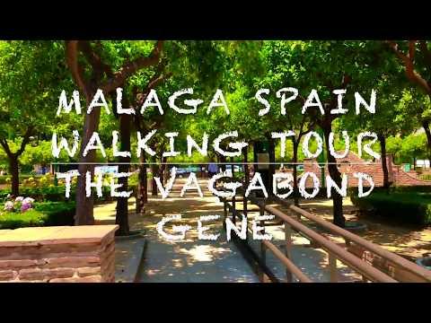 Malaga Spain Walking Tour 2018 High Definition Steady Cam