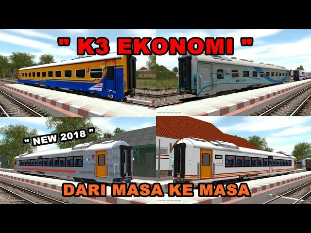 REVIEW KERETA K3 DARI MASA KE MASA KAI TRAINZ SIMULATOR 2009 INDONESIA