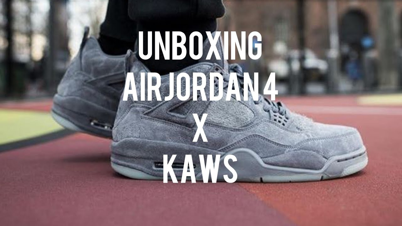 a4291f8b11571a UNBOXING - AIR JORDAN RETRO 4 X KAWS FOR INDIAN JORDAN LOVERS - YouTube