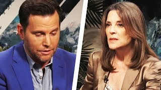 Marianne Williamson Visibly Shocked by Dave Rubin's Questions