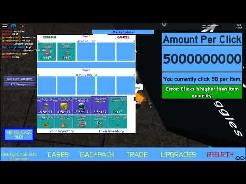 Roblox Galaxy Clicker A admin scamming :O He scam my 1 Octillion rap