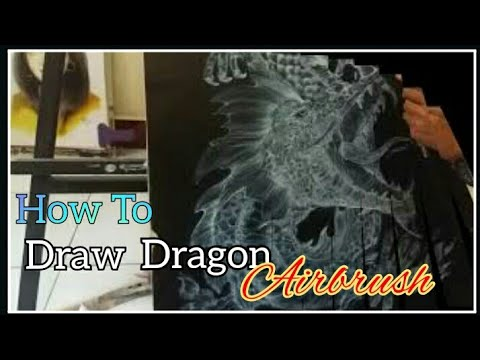 HOW TO DRAW DRAGON | AIRBRUSH ART