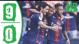 PSG vs EAG 9-0 Highlights & Goals 2019  #Paris #neymar #cavani #mbappi