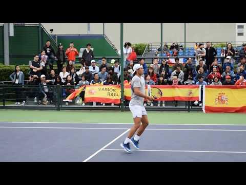 The 2017 Shanghai Rolex Masters Rafa Nadal practice October12