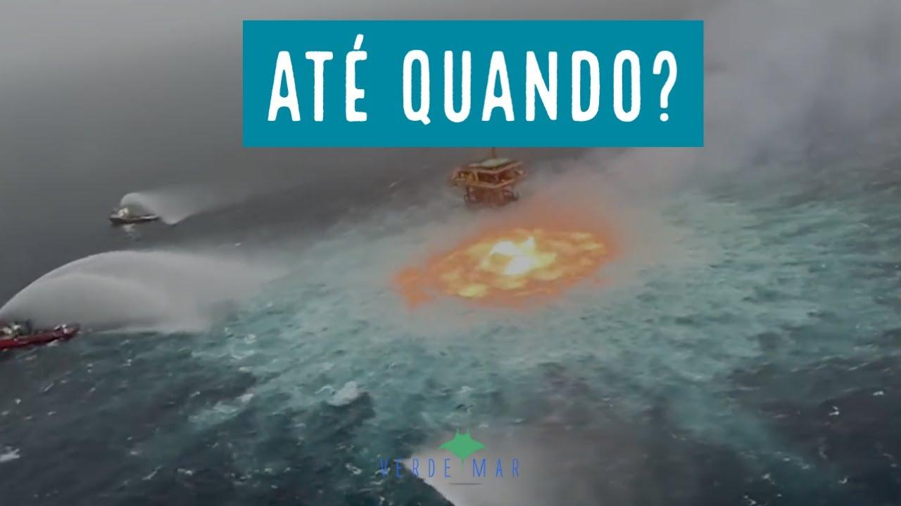 Vazamento de gás causa incêndio no mar no Golfo do México