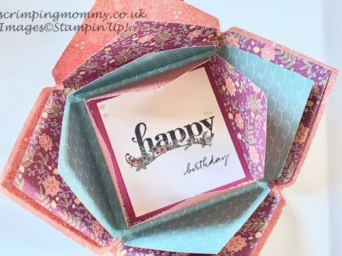 Exploding envelope card NEW Sweet Soiree papers