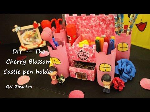 DIY| Castle Pen Holder with Cardboards + Toilet rolls @GN Zimetra