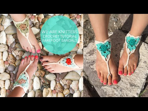 WE ARE KNITTERS | CROCHET BAREFOOT SANDALS