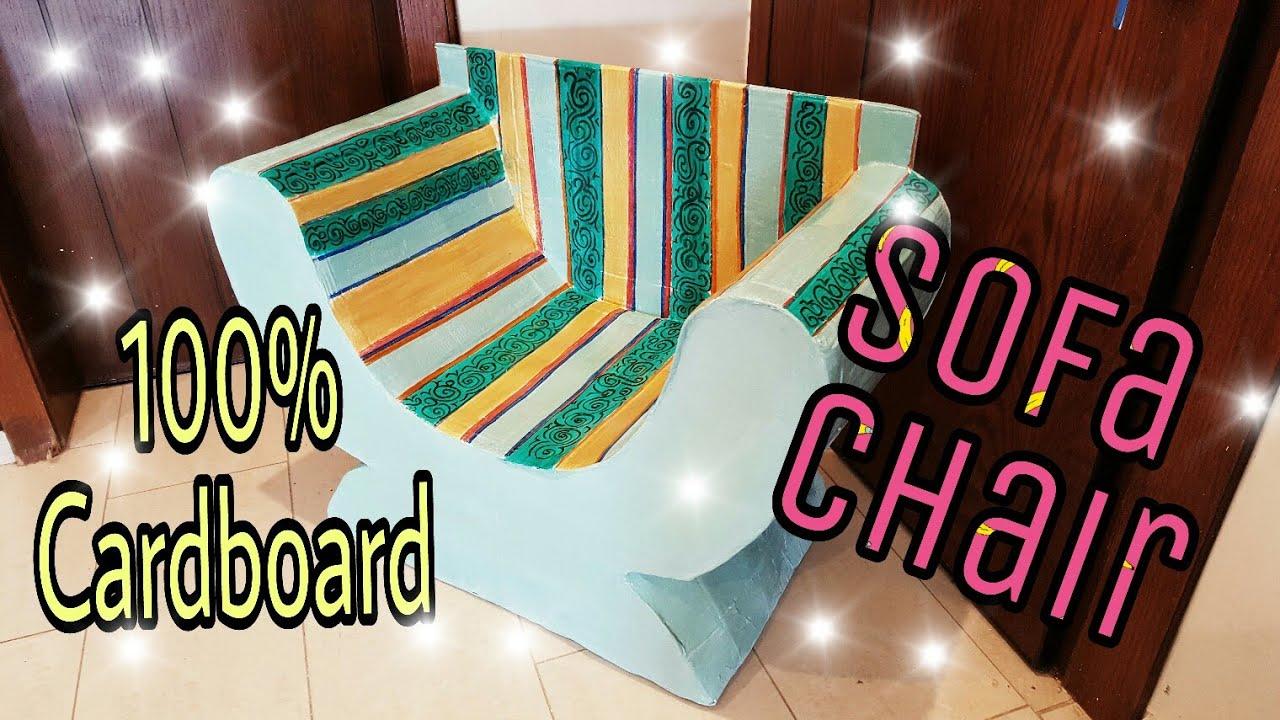 DIY: Cardboard Furniture/ Cardboard Chair/Sofa, how to ...
