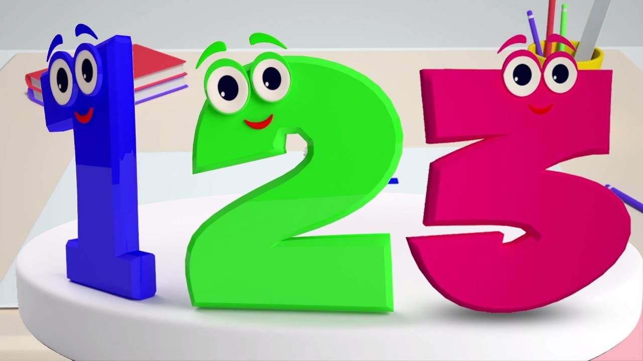 Nomor lagu | Anak belajar angka | Nomor untuk anak-anak | Numbers Rhyme For Kids | Educational Song