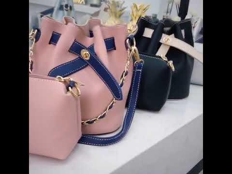 2018 Ins ultra - fire bag hand bill of lading shoulder bag Korean edition chain with slanted bag.