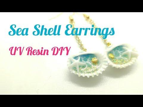 UV Resin DIY Sea Shell Earrings + IG Giveaway (closed)