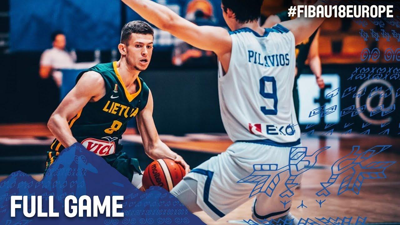 Greece v Lithuania - Full Game - FIBA U18 European Championship 2017