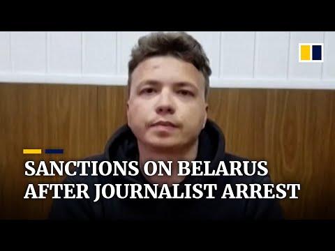 Belarus releases video of jailed journalist Roman Protasevich as EU sanctions Minsk